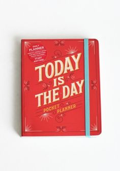 Today is the Day pocket planner. Adorable.