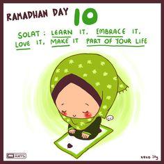 Ramadan Day 10 Tip: Do your five daily salahs, offer Sunnah prayers and offer frequent dua! Ramadan Tips, Ramadan Day, Islam Ramadan, Ramadan Crafts, Ramadan Mubarak, Quotes Ramadan, Ramadan 2016, Ramadan Images, Eid Crafts