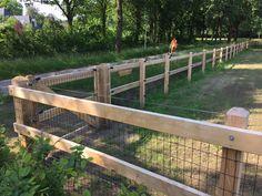 Omheining voor honden, paarden, schapen en geiten | Arfman Dream Stables, Horse Stables, Goat House, Horse Arena, Barn Plans, Hobby Farms, Yard Design, Farm Life, Country Life