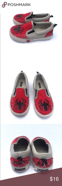 NWOT Baby Gap Spider-Man Shoes Size 7 toddler NWT (son ripped off the actual tag but still attached form store) Junkfood for Baby Gap Spider-Man slip on shoes.  Adorable!  Coordinating size 2T hoodie also available. GAP Shoes