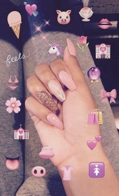 [ p i n t e r e s t ] : doniellejackson cute nails, my nails, long nails, nails on Gorgeous Nails, Pretty Nails, Hair And Nails, My Nails, Pink Nails, French Gel, Best Acrylic Nails, Dope Nails, Nail Inspo