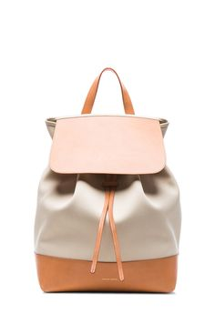 1d252da4ff83 Mansur Gavriel Canvas Large Backpack in Creme   Creme Quirky Fashion