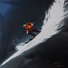 "Kal Gajoum ~  ""Skiing Competition II"""