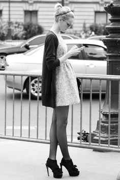 Structure + loose cardigan + booties