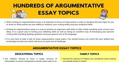 Argumentative essay topics! When writing an argumentative essay, there are so many different topics that you might choose. However, it can be something of a Pin for later! online essay writing service, help with writing an essay, argument essay topics, essay titles, argumentative essay sample, essay rubric College Admission Essay, College Essay, Apa Essay Format, Sample Essay, Argumentative Essay Outline, Common App Essay, Essay Words, Write My Paper, College Application Essay