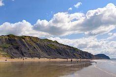 The 5 best British winter beach walks Somerset England, Devon England, Charmouth Beach, Dorset Beaches, British Beaches, Dorset Coast, Winter Beach, Great British, Beach Walk