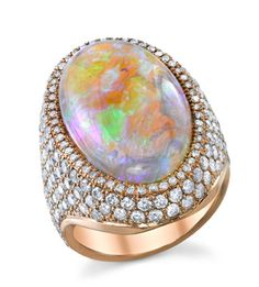 Opal and Diamond Ring by Irene Neuwirth.