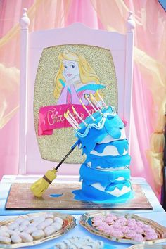 Once Upon a Dream + Sleeping Beauty Princess Party via Kara's Party Ideas Cakes, favors, games, desserts, printables, and more! #sleepingbea...