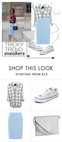 """Pencil Skirt + Sneakers"" by dijanam97 ❤ liked on Polyvore featuring Converse, Precis Petite, H&M and modern"