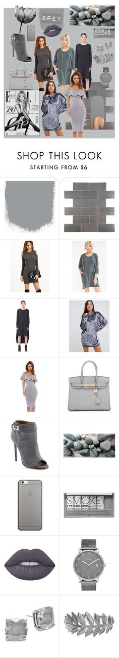 """grey"" by luthfiyyah-rachmawati on Polyvore featuring Merola, Silence + Noise, Y-3, Missguided, Hermès, Givenchy, Native Union, Boohoo, Lime Crime and Skagen"