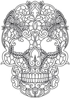 "iColor ""Sugar Skulls"" Adult coloring pages Skull Coloring Pages, Coloring Book Pages, Printable Coloring Pages, Coloring Sheets, Adult Coloring, Mandalas Painting, Mandalas Drawing, Mandala Art, Zentangles"