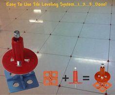 600 Tile Leveling System 400 Clips + 200 Wedges Tile Leveler Spacers ...
