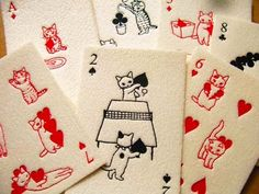Cats Playing Cards - OmoshiroiTV