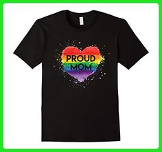 Mens Proud Mom Gay Tshirt - Gay Pride - Support Gay - LGBT Small Black - Relatives and family shirts (*Amazon Partner-Link)