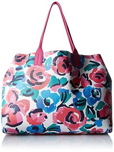 Women's Shoulder Bags - Tommy Hilfiger Talia Reversible Tote RoseMulti * You can find out more details at the link of the image.