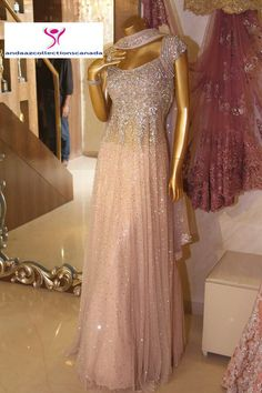 Baby Pink Neeta Lulla Ramp Anarkali Dress buy it now at andaazcollectionscanada