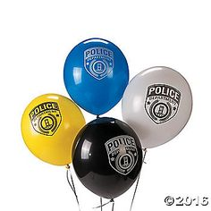 Cop these Police Party Latex Balloons for your next law enforcement occasion or birthday bash. In four colors, these party balloons are perfect for adding a ...