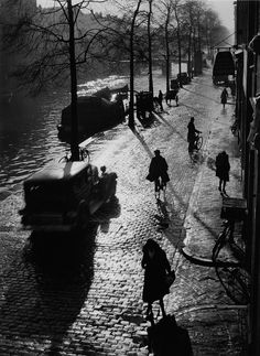Prinsengracht, Amsterdam, 1934 : photo by Wolf Suschitzky
