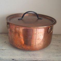 Vintage Copper Stock Pot