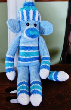 blue sock monkey