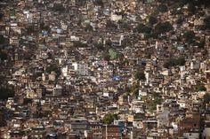 Shanty towns in Rio de Janeiro.