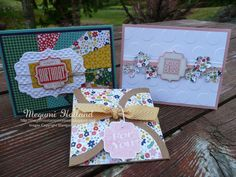 Megumi's Stampin Retreat, Stampin' Up! Tag Talk Stamp Set, Big Shot, Embossing Folder, Gift Card Holders, Kits to Go Punch Card Club