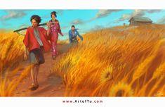 Samurai Champloo - Search for the Sunflower Samurai by ArtofTu on @deviantART