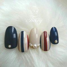 Cute Nail Art, Gel Nail Art, Nail Manicure, Cute Nails, Pretty Nails, Elegant Nail Designs, Gel Nail Designs, Asia Nails, Lily Nails