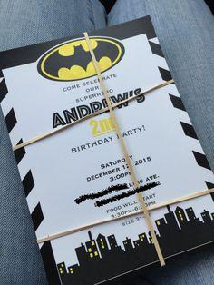 i make batman invitations email me if interested! brendaaalbarran11@gmail.com