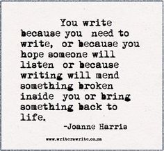 .I let it go otherwise it's like swimming against the current. Joanne Harris.
