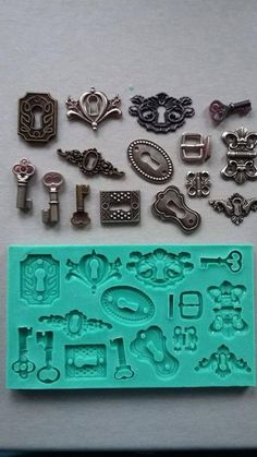 Discover thousands of images about Silicone Mould / Latches / Sugarcraft Cake Decorating Fondant / fimo moldResuscitation of old things: 10 ideas for using old things in the interior Resin Molds, Silicone Molds, Plaster Molds, Iron Orchid Designs, Sugar Craft, Mold Making, Resin Crafts, Clay Projects, Paper Clay