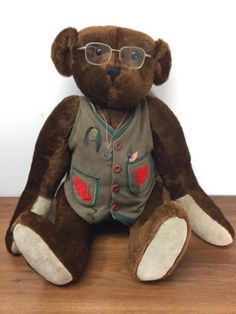 """#TeddyBears #Teddy #Bears 28"""" BEVERLY PORT GORHAM TEDDY ROOSEVELT STAR SPANGLED BANNER MUSICAL BEAR 996/10 #TeddyBears #Teddy #Bears"""