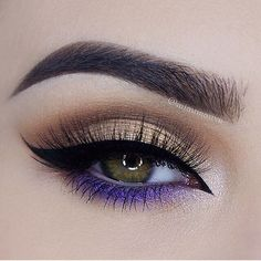 I like the purple eye makeup detail - Make up! - I like the purple eye makeup detail I like the purple eye makeup detail Purple Eye Makeup, Makeup Eye Looks, Eye Makeup Art, Beautiful Eye Makeup, Cute Makeup, Pretty Makeup, Skin Makeup, Makeup Inspo, Eyeshadow Makeup