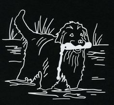 Original Newfoundland Dog Decal by S Nummer by caninepainter, $8.00