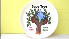 World Environment Day Special Painting Idea - Save Water/Save Tree/Save Earth Save Tree Save Earth, Paper Swan, Importance Of Water, Painting Tips, Painting Art, World Environment Day, World Water, Engineering Projects, Cool Art