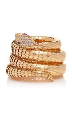 Rose Gold Il Serpente Diamond Bracelet by Sidney Garber Sidney Garber, Animal Jewelry, 18k Rose Gold, Gold Rings, Fine Jewelry, Wedding Rings, Bling, Engagement Rings, Jewels