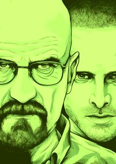 Breaking Bad Illustration for Nuts Magazine by Benji Charnock, via Behance