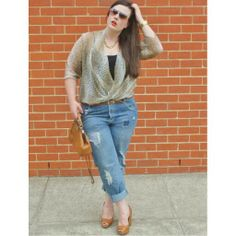 Leopard and Denim www.thisisashleyrose.com #curves #plusfashion #fatshion