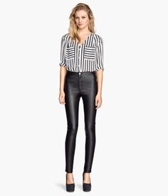 Product Detail | H&M US Pants in Imitation Leather $24.95