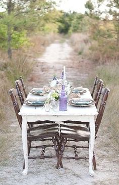 Whimsical outdoor seating by Sarah Street Photograpy on Heart Love Weddings