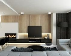 DOM JEDNORODZINNY / SZCZECIN - Duży salon z jadalnią, styl nowoczesny - zdjęcie od A2 STUDIO pracownia architektury
