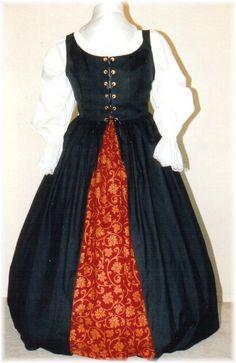 Deluxe Renaissance Irish Overdress Packages | Plus size and super size Renaissance costumes | Plus Size Costume Shop