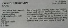 """Chocolate Suicide Cake"""""""