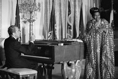 """Pearl Bailey had already served as a Good Will Ambassador to the United Nations before Richard Nixon designated her the nation's ""Ambassador of Love."" On March 7, 1974, she attended a dinner for the nation's governors and their wives. When Nixon began to play ""Home on the Range,"" Bailey quipped, ""Mr. President, I want to sing a song; I don't want to ride a horse."" """