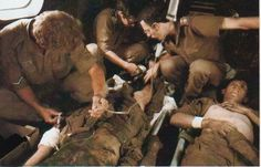 "The only promise I ever believed was "" We will come and get you"". Wounded SA soldiers during the border war. Military Life, Military History, Army Pics, South African Air Force, Army Day, Troops, Soldiers, Brothers In Arms, Defence Force"