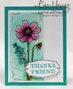 Add Ink and Stamp: Helping Me Grow stamp set Cut Apart and watercolored