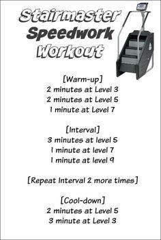 Stairmaster Speedwork Workout + CSX Compression so Stairmaster Workout, Hiit Workout At Home, Treadmill Workouts, Workout Warm Up, Workout Plans, Workout Ideas, Stair Stepper Workout, Stair Climber Workout, Stairs Workout