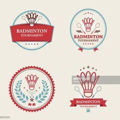 Vector of badminton tournament emblem set with shuttlecock icon. Badminton Tournament, Badminton Logo, Olympic Games Sports, Olympic Gymnastics, Sports Day, Sports Logo, Badminton Pictures, Bad Logos, Jordyn Wieber
