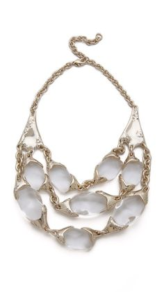 An Alexis Bittar necklace with a striking bib of transparent lucite drops /595.