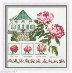 J'ai passé  ma commande de Thea Gouverneur Kit Point Compté Fleurs Pivoines Farmer Peonies Version Lin sur Lish, € 77,40